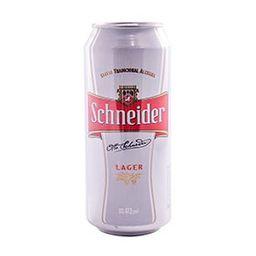 Cerveza Schneider Lager Lata 473 mL