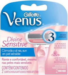 Cartuchos Para Afeitar Gillette Venus Divine Sensitive 2 U