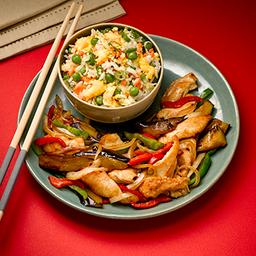 Pollo con Verduras y Chaw Fan