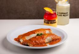 Canelones de Espinaca + Postre + Bebida