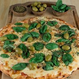 Pizza Muzzarella & Albahaca