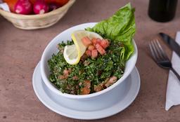Tabbouleh con Brochettes de Pollo