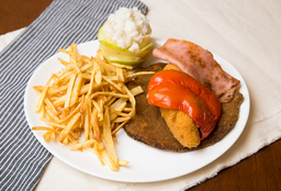 Milanesa Suprema Maryland para 2 Personas + Papas Pay