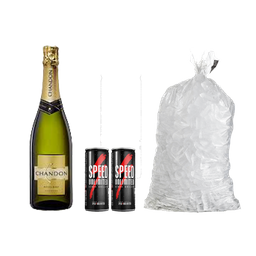 Combo 1 Chandon Extra Brut 750ml + 2 Speed + 1 Hielo 4kg