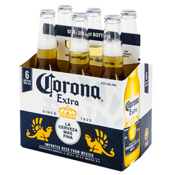 Six pack Corona Porron