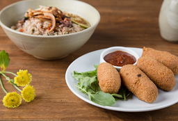 Croquetas + Manila Rice