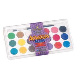 Acuarelas Alba - Estuche X 18 Colores