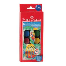 Acuarelas Faber Castell - Estuche X 12 Colores