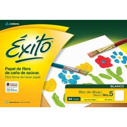 Block De Dibujo Éxito Blanco - Nº5, 24 Hojas