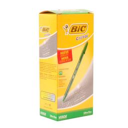 Bolígrafo Bic Cristal Precisión Y Suavidad Verde Pack X 25