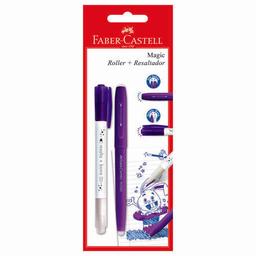 Rollerball Faber Castell Magic Violeta + Resaltador Faber Castel