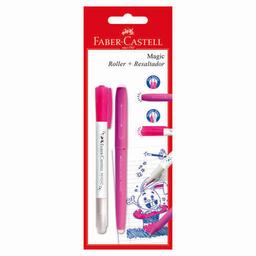 Rollerball Faber Castell Magic Rosa + Resaltador Faber Castell