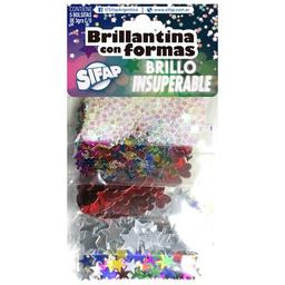Brillantina Sifap Formas Colores Brillantes - Pack X 5 Sobres