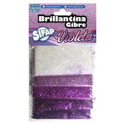 Brillantina Sifap Gibre Violeta Degrade - Pack X 5 Sobres