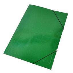 Carpeta Staples Cartón Cierre Elástico Verde - Oficio