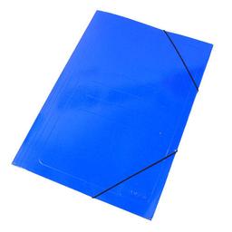 Carpeta Staples Cartón Cierre Elástico Azul - Oficio