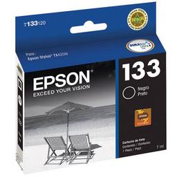 Cartucho Epson 133 Negro - T133320-Al, 265 Páginas