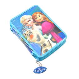 Cartuchera 2 Pisos Frozen 3D