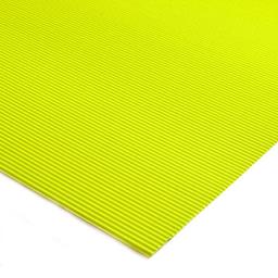 Plancha Cartón Microcorrugado Asamblea Amarillo Flúo