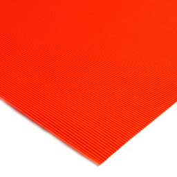 Plancha Cartón Microcorrugado Asamblea Naranja