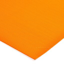 Plancha Cartón Microcorrugado Asamblea Naranja Flúo