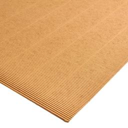Plancha Cartón Microcorrugado Asamblea Kraft - 50 X 70 Cm, 180 G