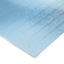 Plancha Cartón Microcorrugado Asamblea Celeste Metalizado