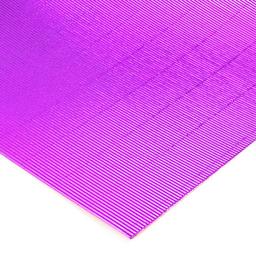Plancha Cartón Microcorrugado Asamblea Violeta Metalizado