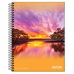 Cuaderno Con Espiral Avon A5 Cuadriculado 46 Hojas