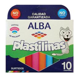 Plastilinas Alba - Pack X 10 Unidades