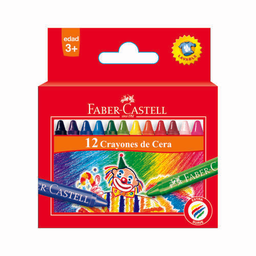 Crayones De Cera Faber Castell - Caja X 12 Unidades