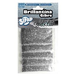 Brillantina Sifap Gibre Plateada - Pack X 5 Sobres