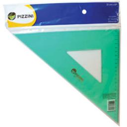 Escuadra Pizzini Verde - 35 Cm, 45°
