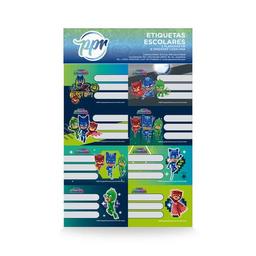 Etiquetas Pj Mask Pack X 2 Planchas De 8 Unidades Cada Una