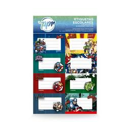Etiquetas Escolares Avengers X 16