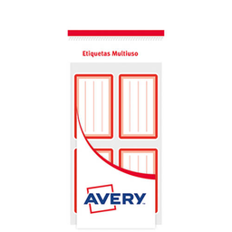 Etiquetas Escolares Avery X 20 Rojo