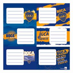 Etiquetas Escolares Boca Juniors X 12