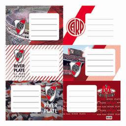 Etiquetas Escolares River Plate X 12