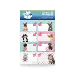 Etiquetas Escolares X 16 Studio Pets