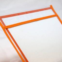 Funda Para Cuaderno Escolar Tradicional Con Ribeteado Naranja
