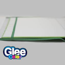 Funda Para Cuaderno Escolar Tradicional Con Ribeteado Verde