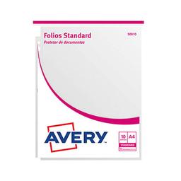 Folios Avery (50010) Standard - A4, 50 Micrones, 10 Unidades