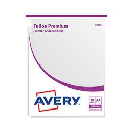 Folios Avery (70010) Premium - A4, 70 Micrones, 10 Unidades