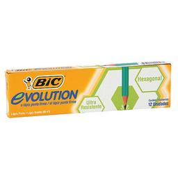 Lápiz De Grafito Bic Evolution Hb Caja X 12