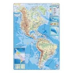 Mapa N°6 Continente Americano Físico – Político