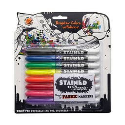 Marcadores Indelebles Sharpie Stained Punta Pincel Tela Colores