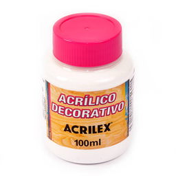 Acrílico Decorativo Mate Acrilex 100Ml Blanco