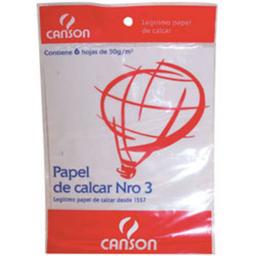 Repuesto Hojas De Calcar Canson - Nº3, Pack X 6 Hojas