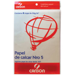 Repuesto Hojas De Calcar Canson - Nº5, Pack X 6 Hojas