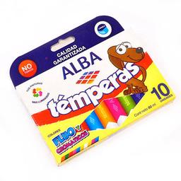Témperas Alba Fluo Y Cromáticos - Pack X 10 Unidades
